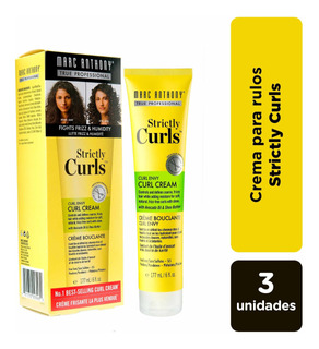 Crema Para Rulos Marc Anthony Strictly Curls Pack X3.