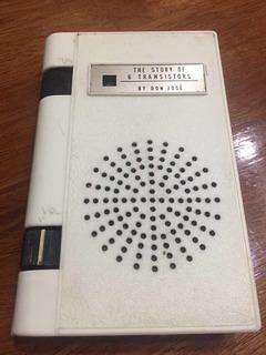 Radio Portátil Antigua Tipo Libro Rexina 6 Transistores