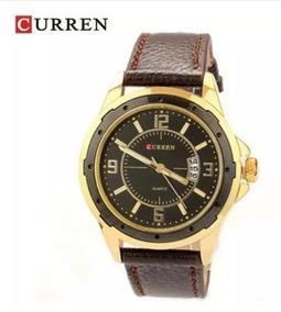Relógio Pulso Quartzo Masculino Luxo - Dourado -