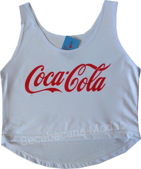 Camisa Feminina Regata Cavada Cropped Até Gg Moda Barato