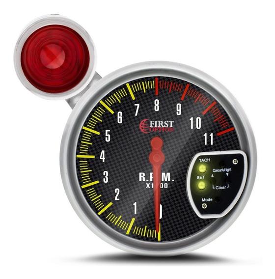 Conta Giro Automotivo Rpm Universal Led 7 Cores - Cromado