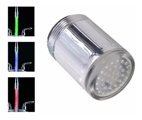 Llave Lavabo Grifo Luz Led C/ Sensor D Temperatura Importado
