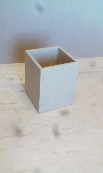 10 Lapiceros Portalápices 8x8x10 Cm En Fibrofacil 5,5mm