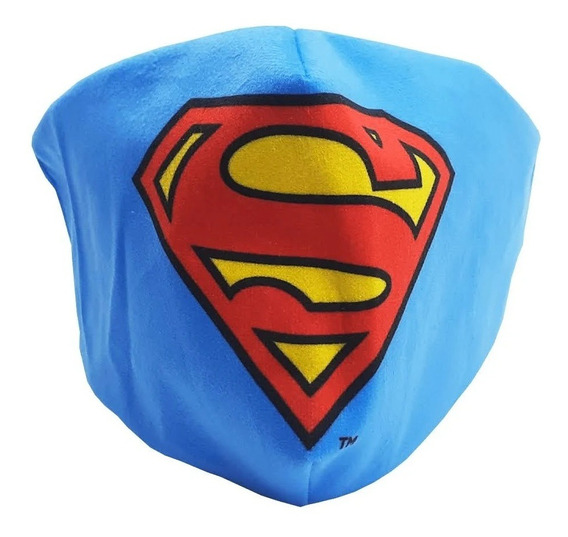 Máscara De Proteção Facial Veludo Superman Zc 10071515