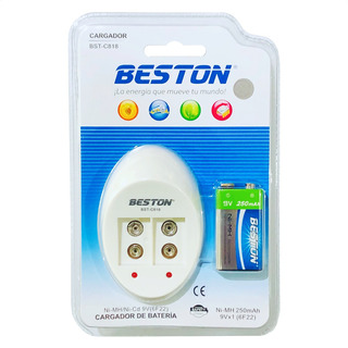 Combo Beston: Cargador + Pila / Batería 9v Cuadrada