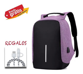 Mochila Antirrobo Backpack Impermeable Puerto Usb