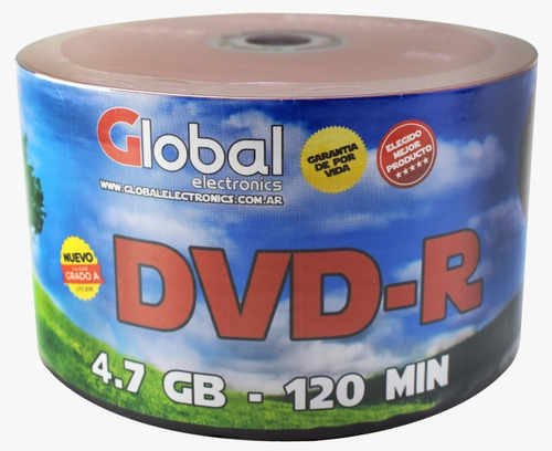 Dvd Virgen Global-r Estampado X50 Capacidad 4.7gb 8x