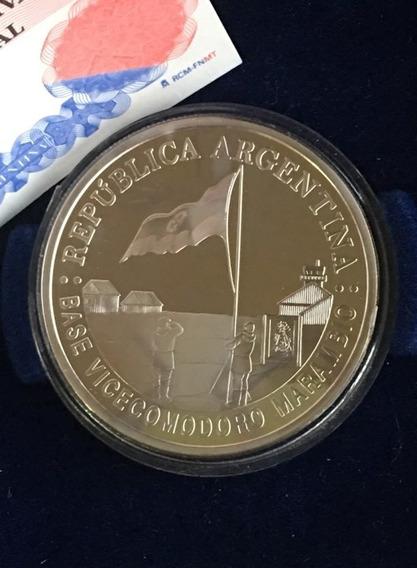 Argentina : Moneda Plata 5 Pesos 2007 Año Polar /pieza 361