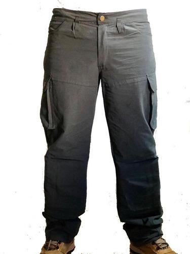 Pantalon Cargo Con Rodilleras Desmontables Gris Plomo Cas