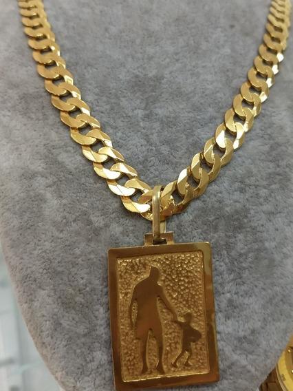 Cordão De Prata Banhado Com Ouro 24 K