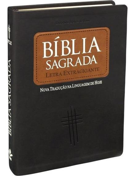 Bíblia Sagrada - Letra Gigante C/ Índice - Luxo Marrom - So