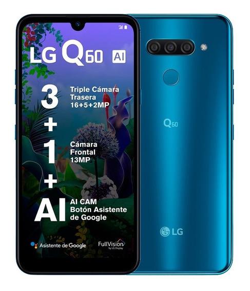 Celular LG Lte Lm-x525ha Q60 Azul