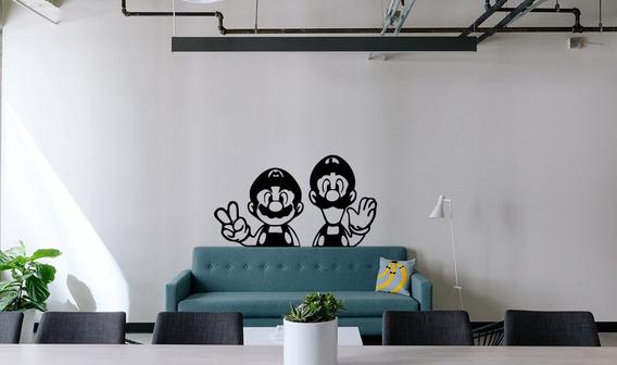 Adesivo De Parede Decorativo Mario E Luigi