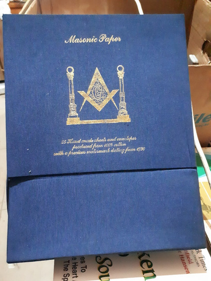 Box 24 Masonic Papers C/ Marcas D´água Usadas Em 1730 Raro