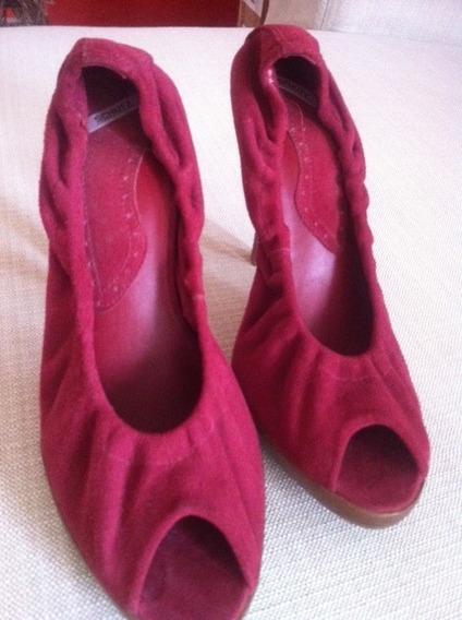 Peep Toe Camurça Schutz - Sapato Lindo E Confortável