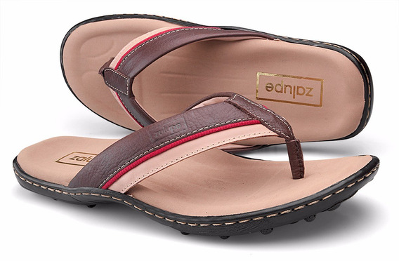 Sandália Masculina Couro Super Confortável Zalupe