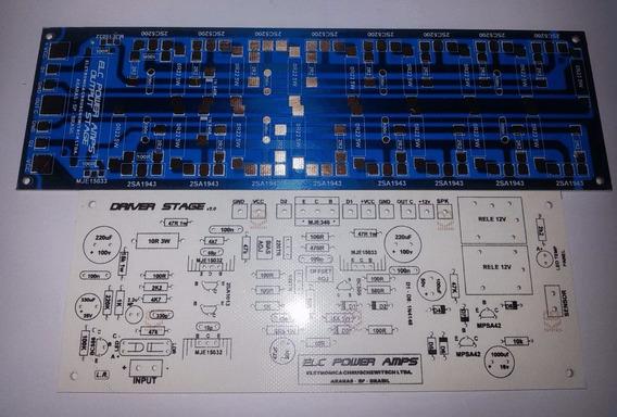 2 Placas Para Montar Amplificador Ab De 1600w Hi End 2 Ohms