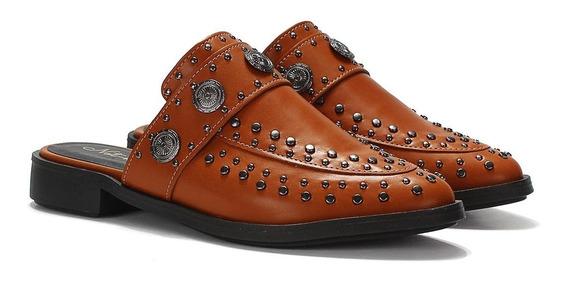 Sapato Casual Mule Tachas Couro Sintético Not-me