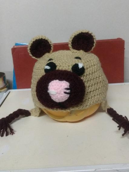 Gorro Oso Tejido A Crochet