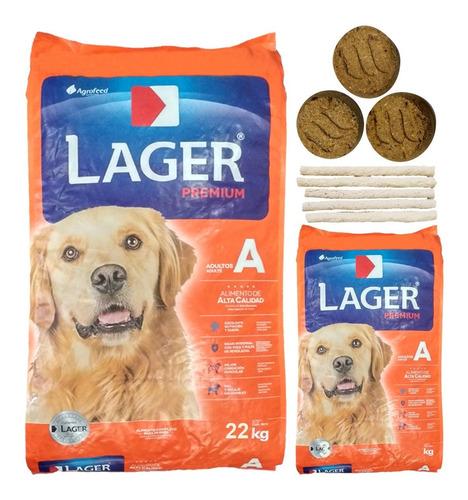 Imagen 1 de 2 de Alimento Perro Adulto Lager Premium 25 Kg + Regalo + Envío