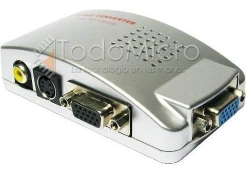 Adaptador Conversor Notebook Vga Tv Rca S-video Garantía