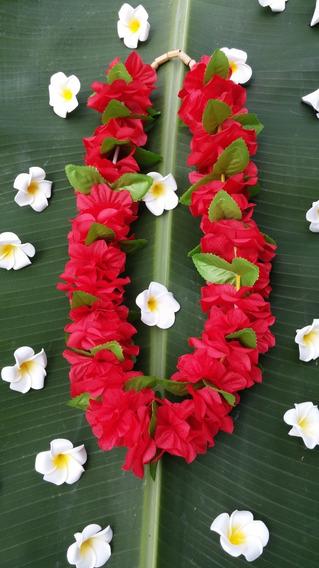 Colar Hawaiano Maoli Red
