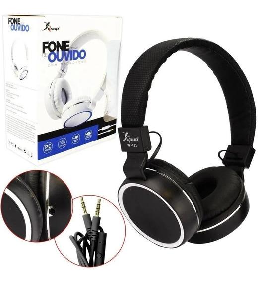 Fone De Ouvido Headphone Com Microfone Top Kp-421