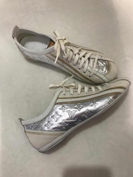 Tênis Louis Vuitton Prata/branco