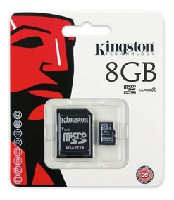 02 - Cartão Memória Micro Sd 8 Gb Lacrado