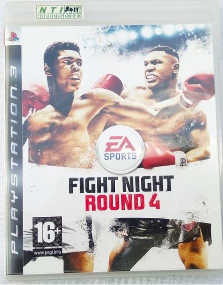 Jogo Ps3 Fight Night Round 4 Com Manual Perfeito Veja Fotos