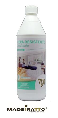 Cera Resistente P/ Pisos Com Cascolac -  Acetinada 1l - W&w