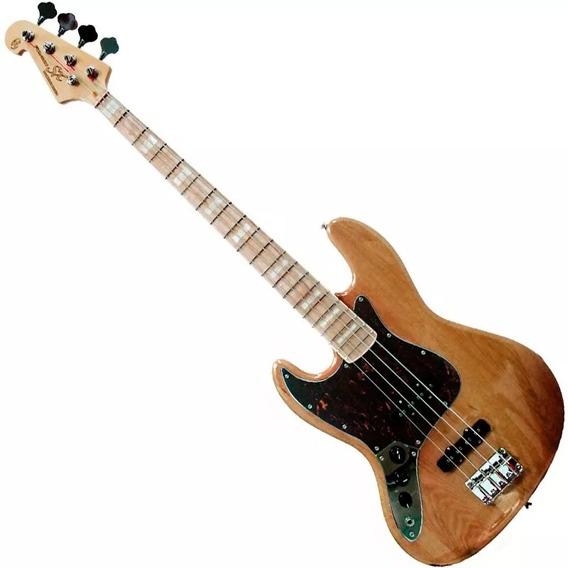 Contra Baixo Canhoto Sx Sjb75 Lh Tortoise Jazz Bass 4 Cordas