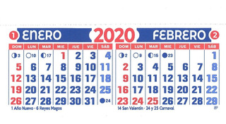 Almanaque 2020 Bimensual 14cm.x7 X 100 U. Troquelado Devoto