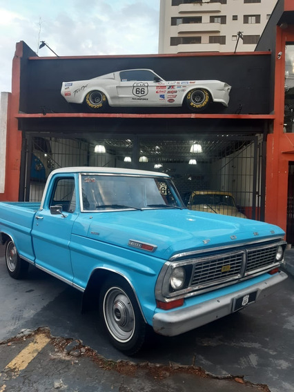 Ford F100 1978 2.3 Ohc Original Nunca Restaurada Cabine Luxo