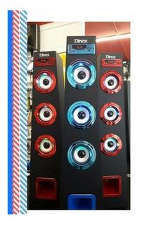 Parlante Torre Dinax Con Luz Recargable Bluetooth Pr-110bt