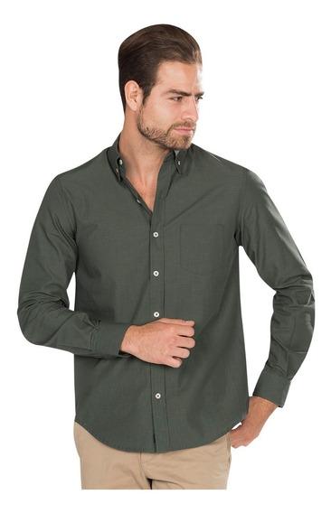 Camisa Hombre Casual Regular Fit Manga Larga Vestir B85210