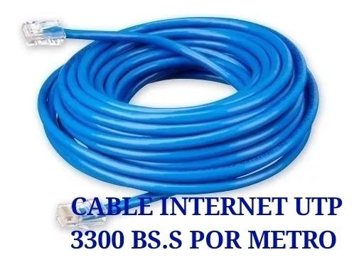 (2600 Bs.s Por Metro) Cable Utp Internet Cat5e Cctv Redes