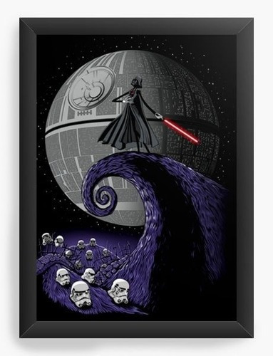 Quadro A3 45x35cm Geekz Star Wars Darth Vader