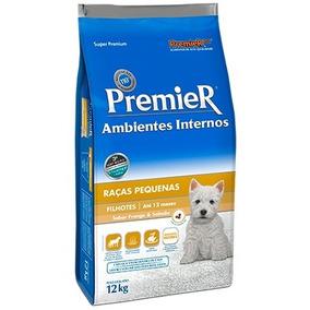 Ração Premier Ambientes Internos Filhotes 12kg Cães Pequenos
