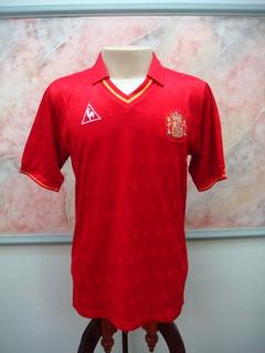 Camisa Futebol Espanha Seleção Le Coq Jogo Antiga 1840