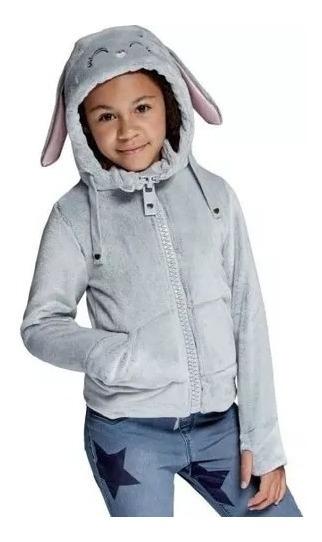 Chamarra De Coneja Para Niña Súper Abrigadora