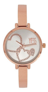 Reloj Yess Mujer S17136s-04 Oro Rosa Blanco Original