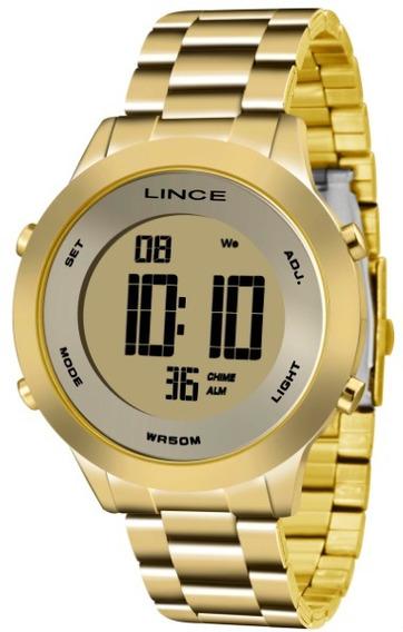 Relógio Lince Feminino Digital Dourado 34131