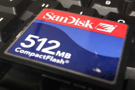 Cartão De Memória Compact Flash Sandisk - 512mb - Original