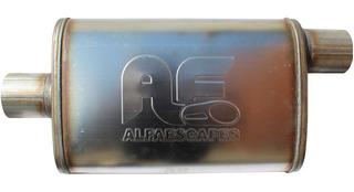 Muffler Silenciador De Alto Flujo Alfaescapes Modelo 001-7