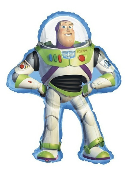 2 Globos Jumbo Metalico 35pulg Buzz Lightyear Toy Story 89cm