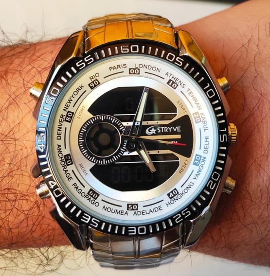 Relógio Masculino Stryve Digital E Analógico
