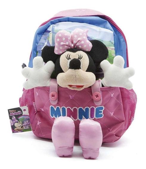 Mochila De Espalda Minnie Con Peluche Disney Original 13