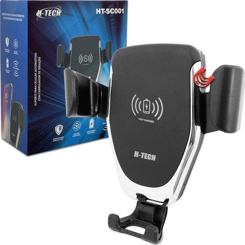 Imagem 1 de 7 de Suporte De Celular Carregador Wireless 12v Saída Ar