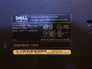 Dell Inspiron 1545 Partes